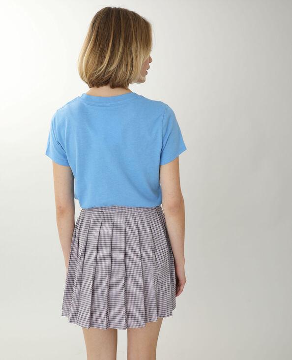 T-shirt à message bleu