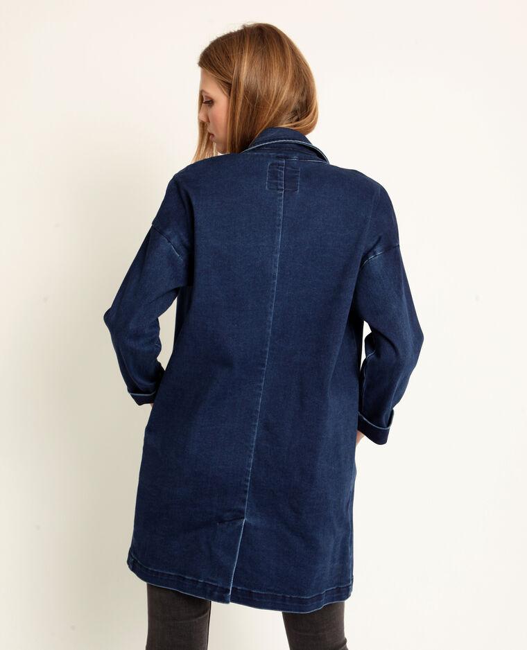 0a4f89d0571a Veste longue en jean bleu denim - 280210683A06