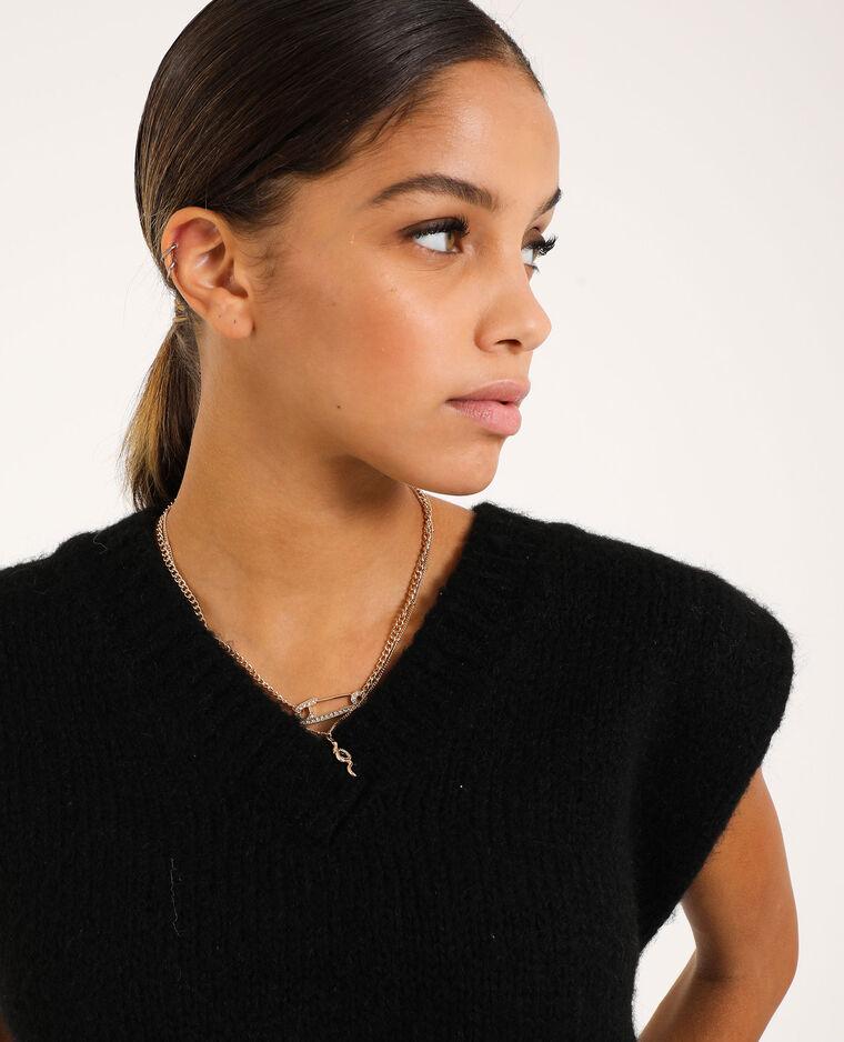 Mouwloze trui zwart