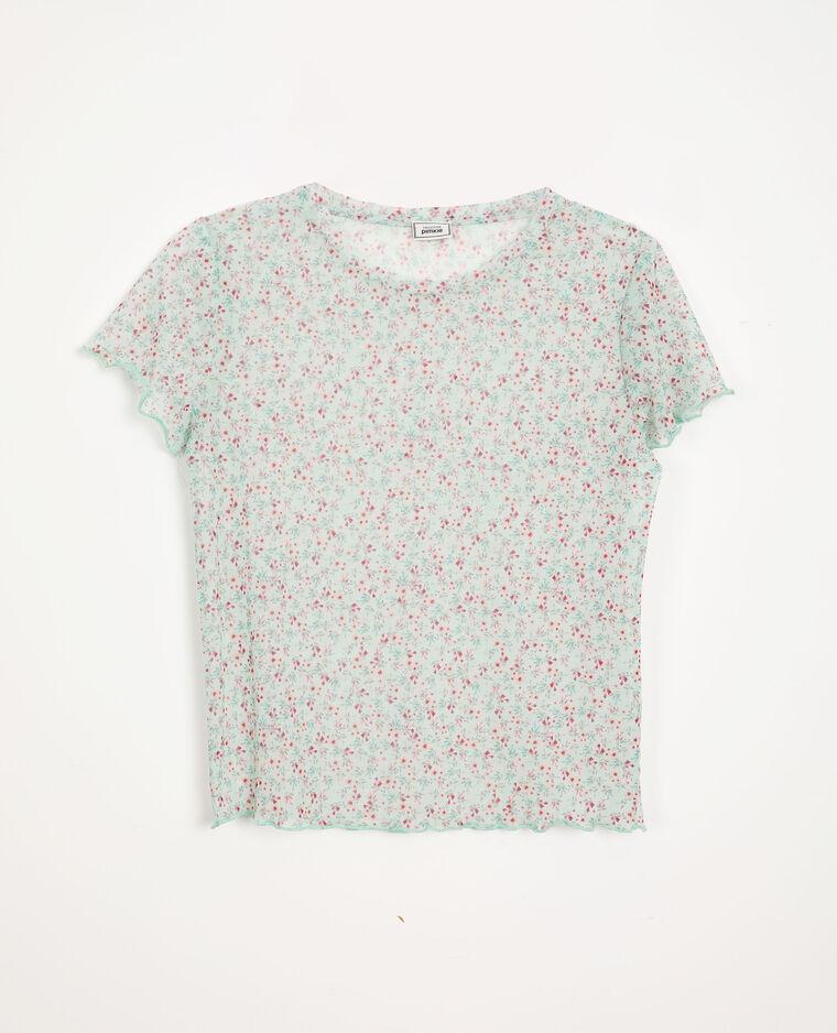 T-shirt à fleurs bleu