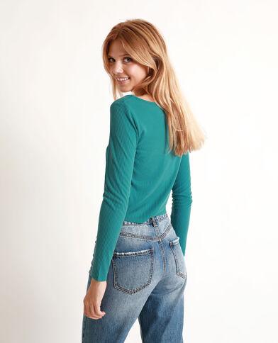 - Kort T-shirt. groenblauw
