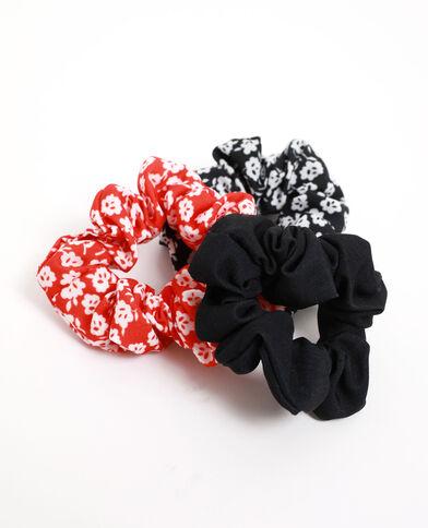 Set van 3 scrunchies zwart