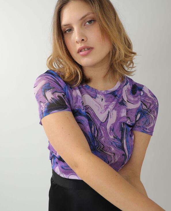 Doorschijnend T-shirt violet - Pimkie
