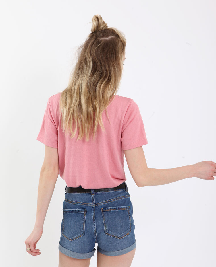 T-shirt met strik roze
