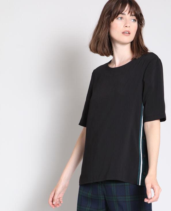 Shirt met knopen zwart