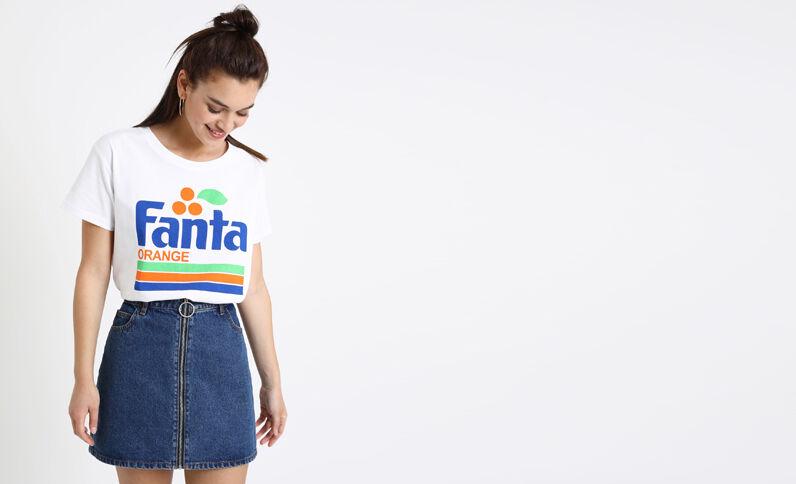 T-shirt Fanta blanc