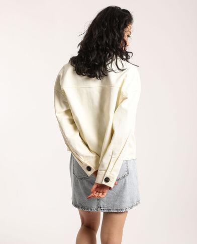 Kort jasje met zakken gebroken wit