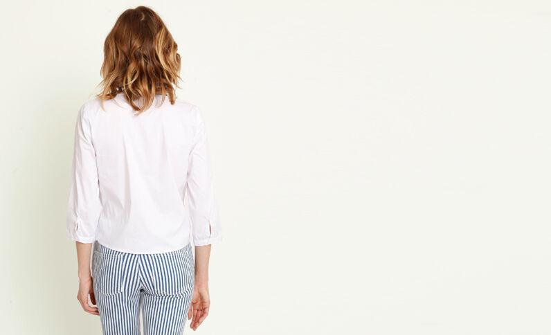 Kort shirt gebroken wit