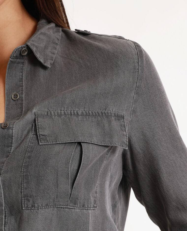 Chemise en jean gris usé