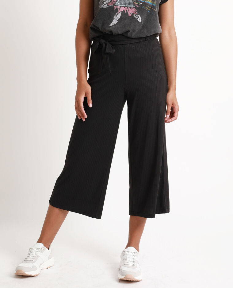 Pantalon cropped noir