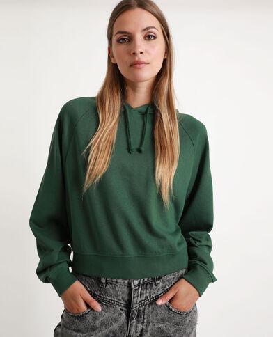 Crop sweater groen