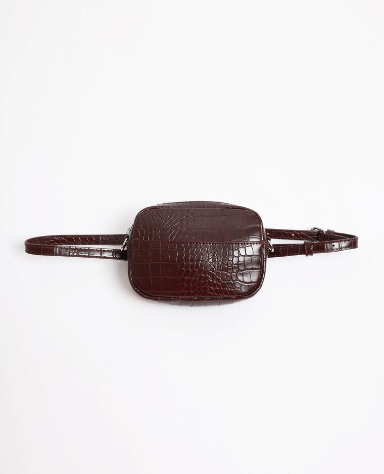 Sac-ceinture croco grenat