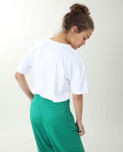 T-shirt met korte mouwen wit - Pimkie