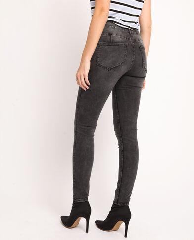 Push-up jeans met middelhoge taille antracietgrijs