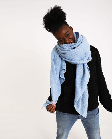 Zachte sjaal hemelsblauw