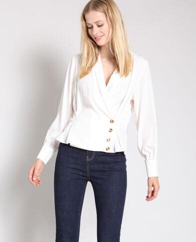Gekruiste blouse gebroken wit