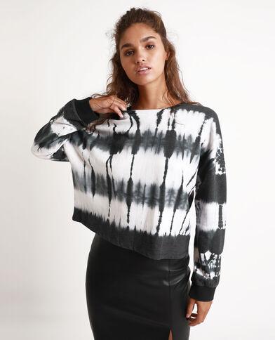 Tie-and-dye sweater zwart