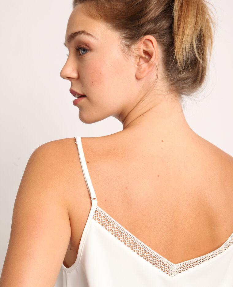 Topje met schouderbandjes gebroken wit
