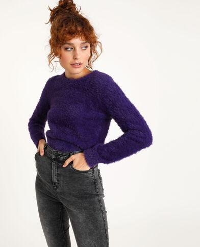 Harige trui violet