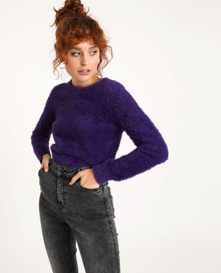 Harige trui violet - Pimkie