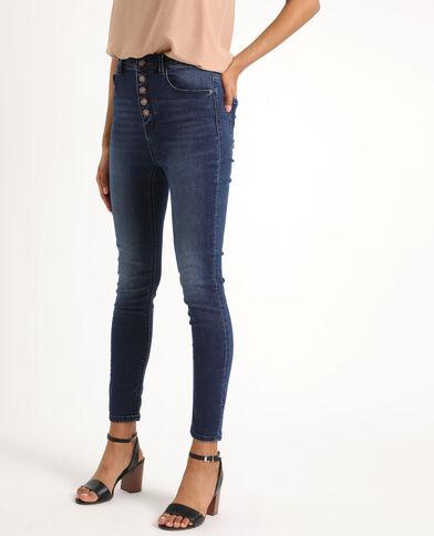 Jean skinny high waist bleu foncé