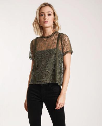T-shirt van kant groen