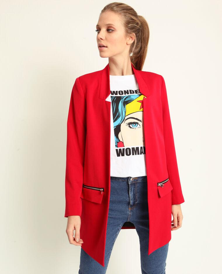 Lichte jas rood