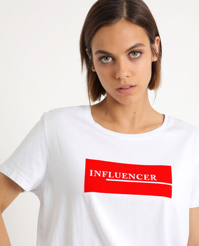 INFLUENCER T-shirt wit