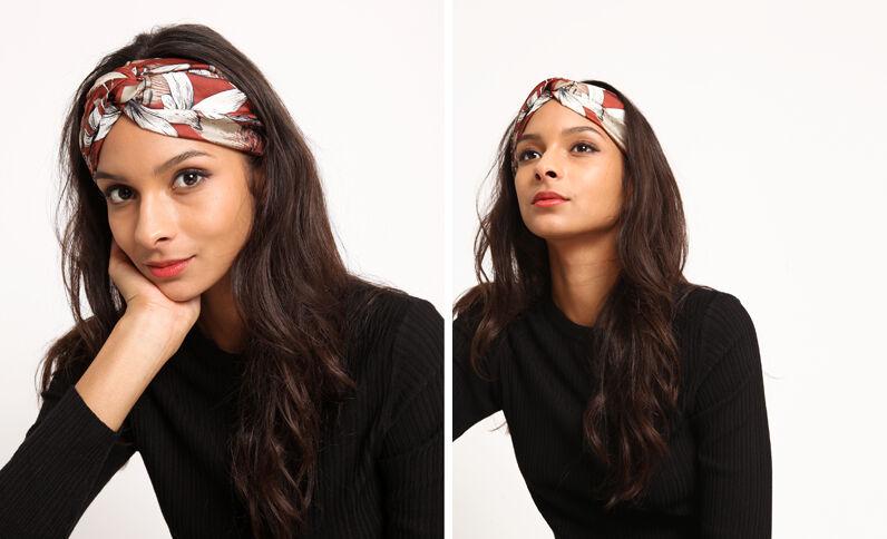 Fleurige hoofdband roestkleur