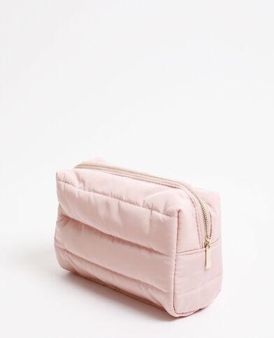 Trousse de voyage matelassée rose pastel