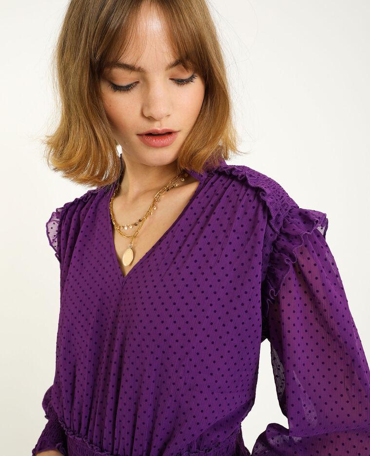 Blouse plumetis violet