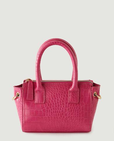 Kleine handtas met krokodillenleereffect roze - Pimkie