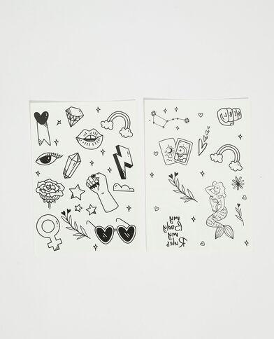Set van 2 tatoeages zwart - Pimkie
