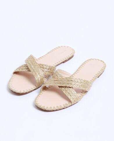 Sandales en rafia beige ficelle