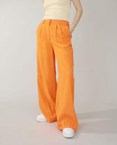 Wide leg broek oranje - Pimkie