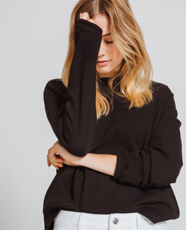 Basic sweater zwart