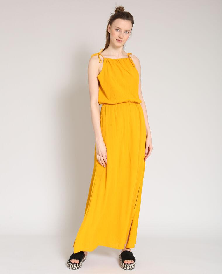 22874f35cd141 Robe longue jaune - 780882061A00 | Pimkie