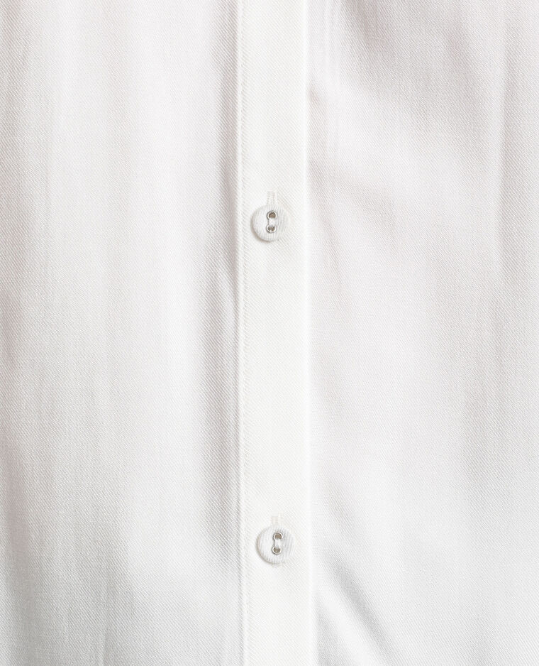 Chemise à manches courtes blanc cassé