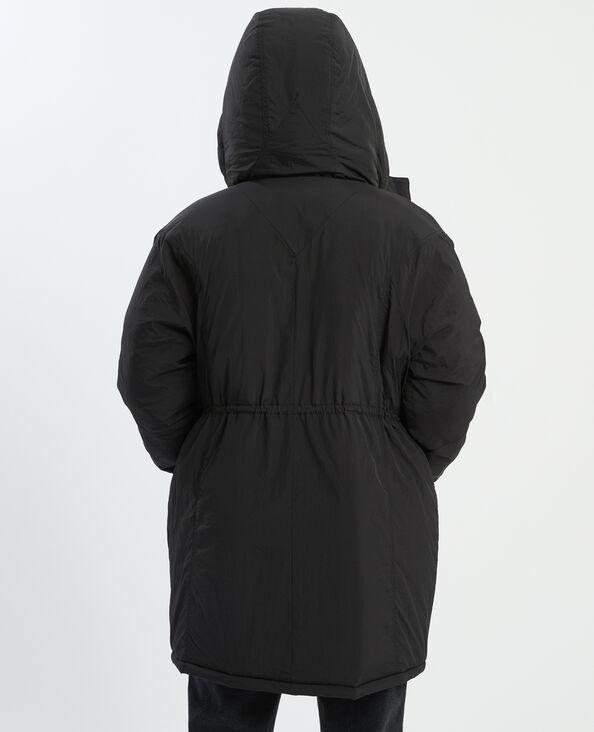 Doudoune longue à capuche noir - Pimkie