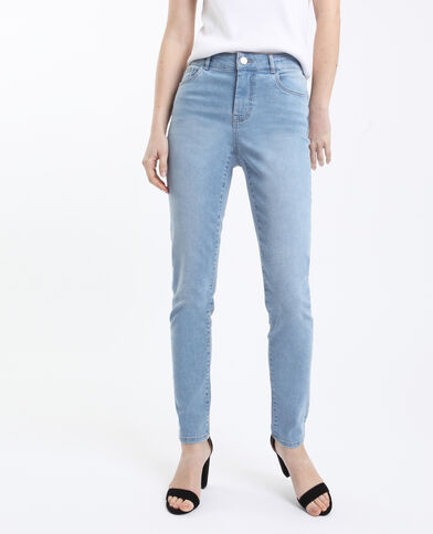 Skinny jeans met middelhoge taille Lichtblauw