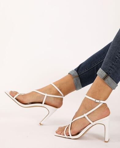 Sandalen met hakken ecru