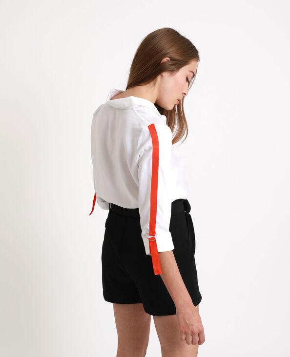 Hemd met contrasterende strook wit