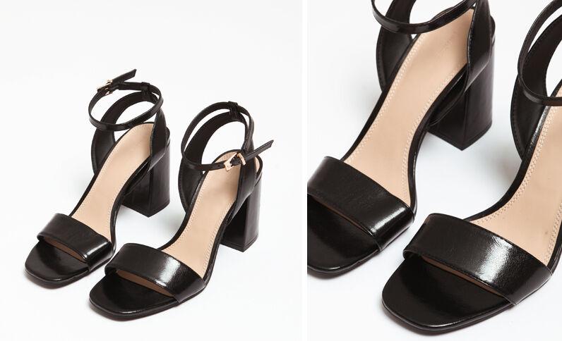 Sandales à talons larges noir