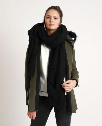 Zachte sjaal zwart