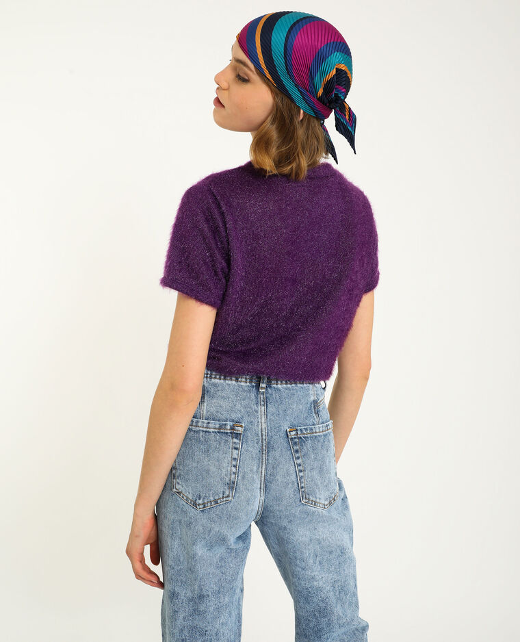 Pull manches courtes violet