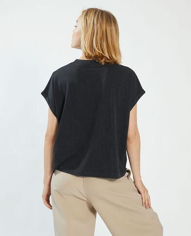 Oversized T-shirt zwart - Pimkie