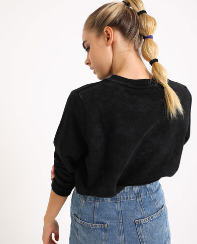 Molton sweater zwart