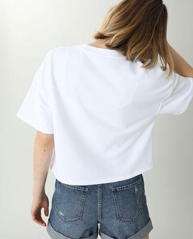 Sweat manches courtes blanc - Pimkie