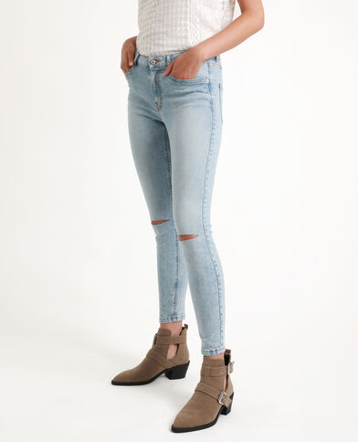 Jean skinny middle waist bleu clair