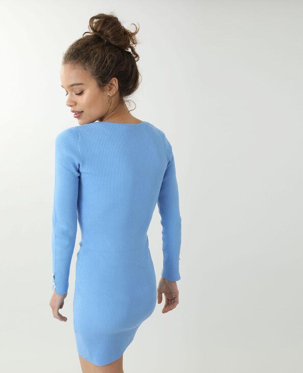Dunne trui-jurk blauw - Pimkie